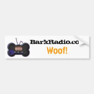 BarkRadio.com, Woof! decal Car Bumper Sticker