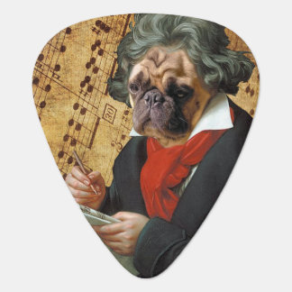 Barkthoven - the Beethoven pug Guitar Pick