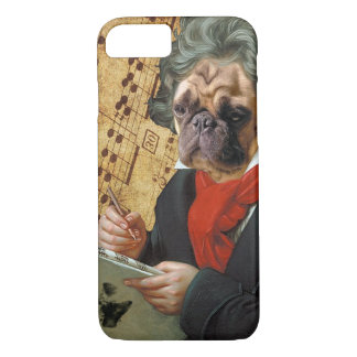Barkthoven - the Beethoven pug iPhone 8/7 Case