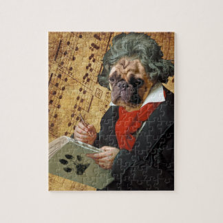 Barkthoven - the Beethoven pug Jigsaw Puzzle
