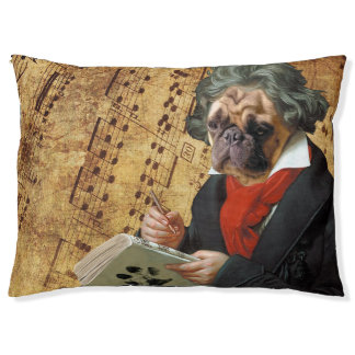 Barkthoven - the Beethoven pug Pet Bed