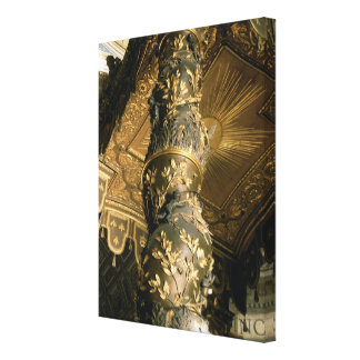 Barley sugar column from the Baldacchino Gallery Wrap Canvas