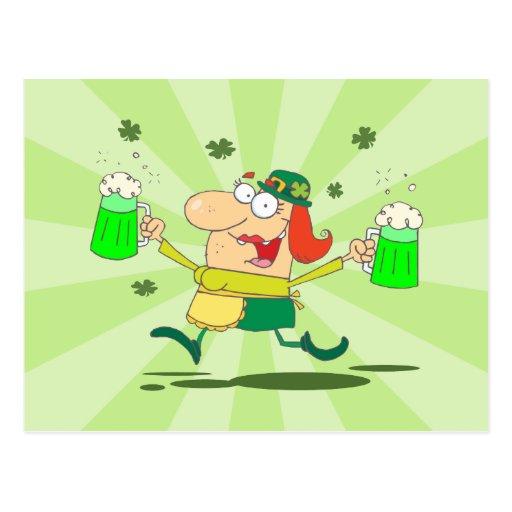 Barmaid irlandaise cartes postales