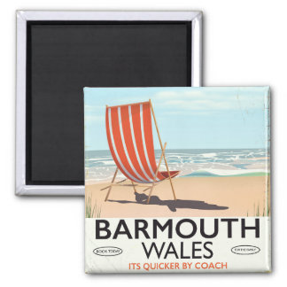 Barmouth North wales vintage travel poster Magnet