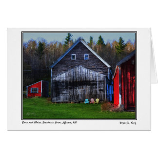 Barn and Chairs, Broadacres Farm, Jefferson, NH Card