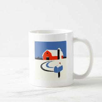 Barn And Mailbox In The Snow Coffee Mug