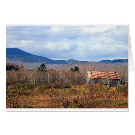 Barn and Mountain Card