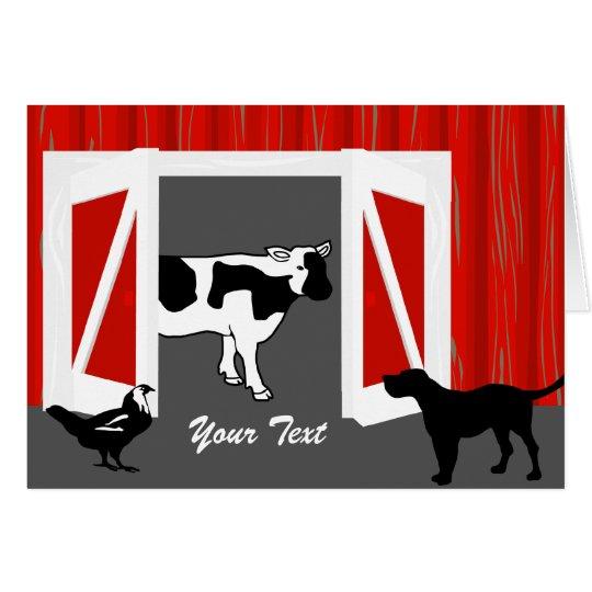 Barn Animals Greeting Card