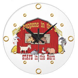 Barn Animals Wall Clock