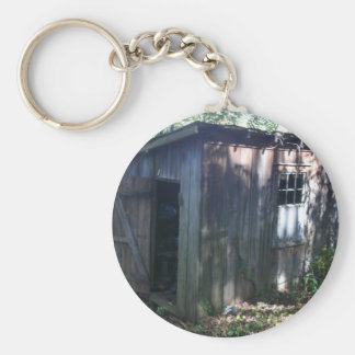 Barn Annex Shed Basic Round Button Keychain