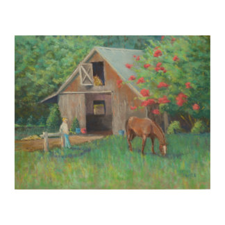 """Barn at Leatherwood"" Wood Print"