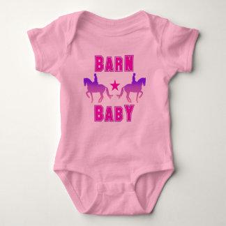 Barn Baby Girl Dressage Baby Bodysuit