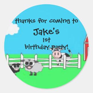barn birthday sticker