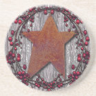 Barn boards Rusted Star Coaster