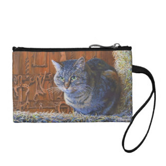 Barn Cat by Steve Berger Key Coin Clutch Change Purse