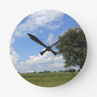 Barn Days Round Clock