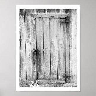 Barn Door Lock Poster