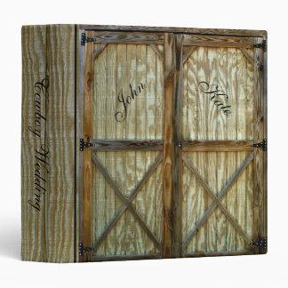 Barn Doors Cowboy Wedding Binder