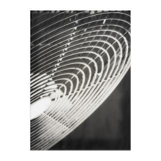 Barn Fan Rustic Industrial Black and White Acrylic Acrylic Print