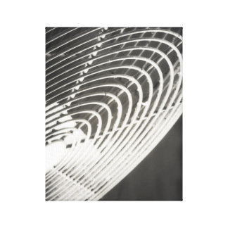 Barn Fan Rustic Industrial Black and White Canvas