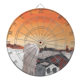 barn farm house sun sunset drawing eliana dartboard