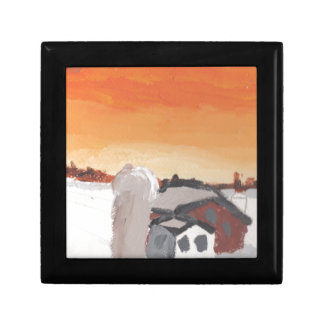 barn farm house sun sunset drawing eliana gift box