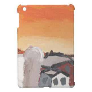 barn farm house sun sunset drawing eliana iPad mini cases