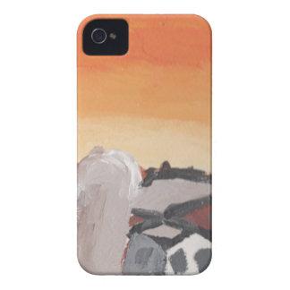 barn farm house sun sunset drawing eliana iPhone 4 case