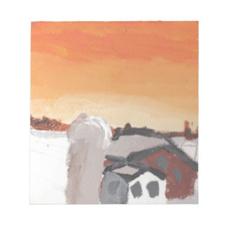 barn farm house sun sunset drawing eliana notepad