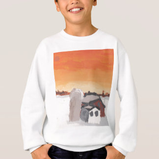 barn farm house sun sunset drawing eliana sweatshirt