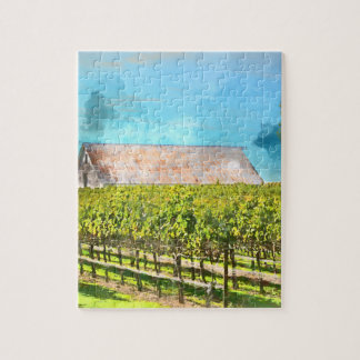 Barn in a Vineyard in Napa Valley California Jigsaw Puzzle