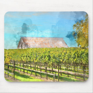 Barn in a Vineyard in Napa Valley California Mouse Pad