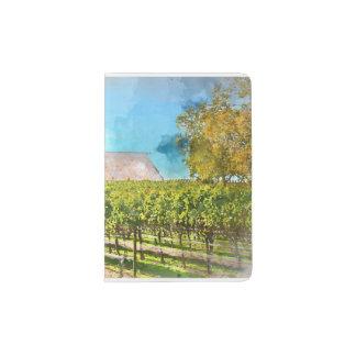 Barn in a Vineyard in Napa Valley California Passport Holder