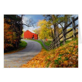 Barn in Fall Card
