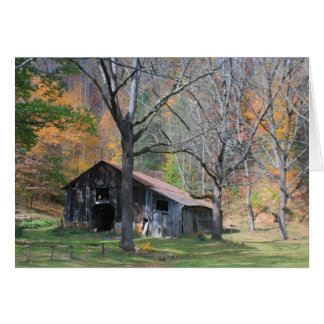 Barn in Fall Foliage Card