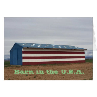 Barn in the U.S.A. Birthday Greeting Card