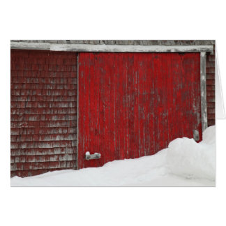Barn in Winter Card