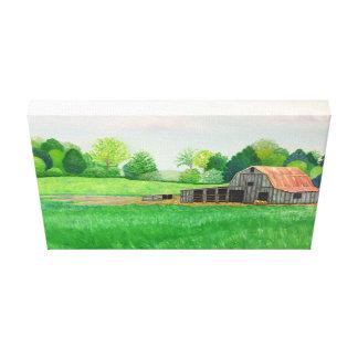 Barn On Mayo Lane Canvas Print