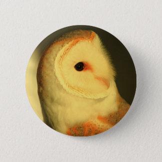 Barn owl 2 inch round button
