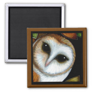 BARN OWL AUTUMN Magnet