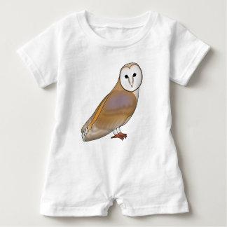 Barn owl baby romper