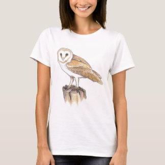 barn owl bird ornithology wicca pagan tshirt