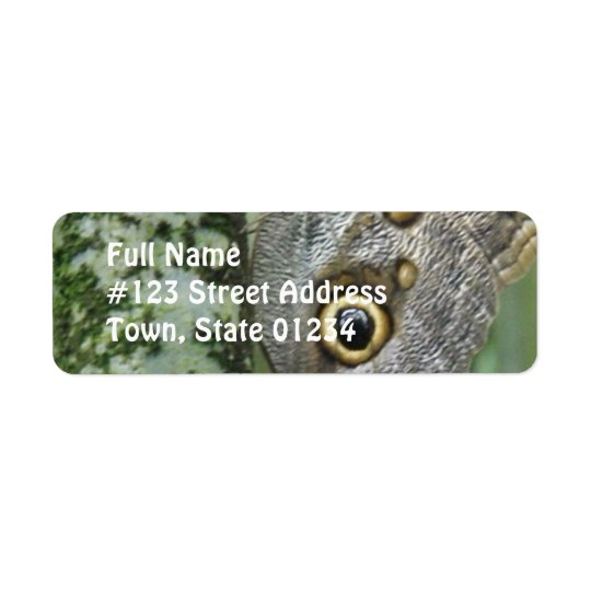 Barn Owl Butterfly Mailing Label