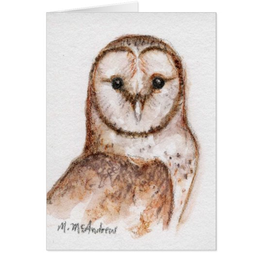 """""""Barn Owl"""" Card"""