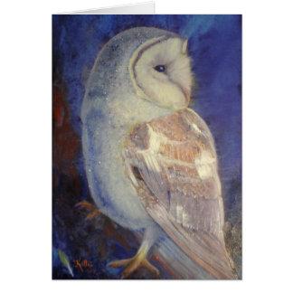 Barn Owl. Card