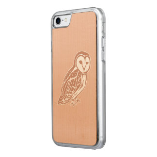 Barn Owl Carved Apple iPhone 7 Wood Case