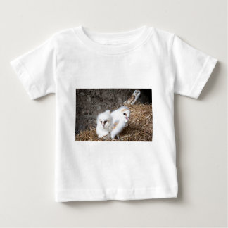 Barn Owl Chicks In A Nest Baby T-Shirt