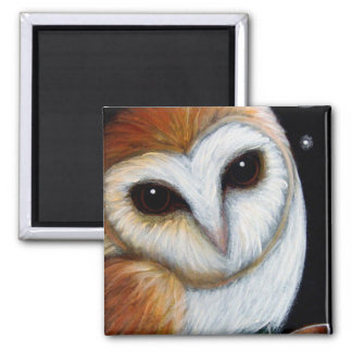 BARN OWL CLOSE UP Magnet