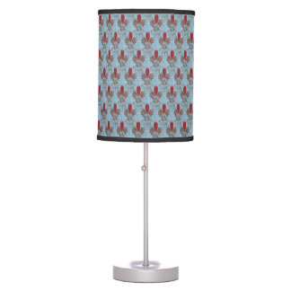 Barn Owl Hearts Pattern Table Lamp