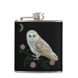Barn Owl Hip Flask